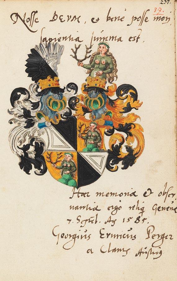 Album amicorum - Stammbuch des Johann Speimann. 1585. -
