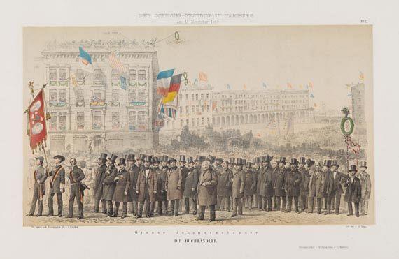 Deutschland - Bilder aus dem Schiller-Festzuge in Hamburg. 1860.