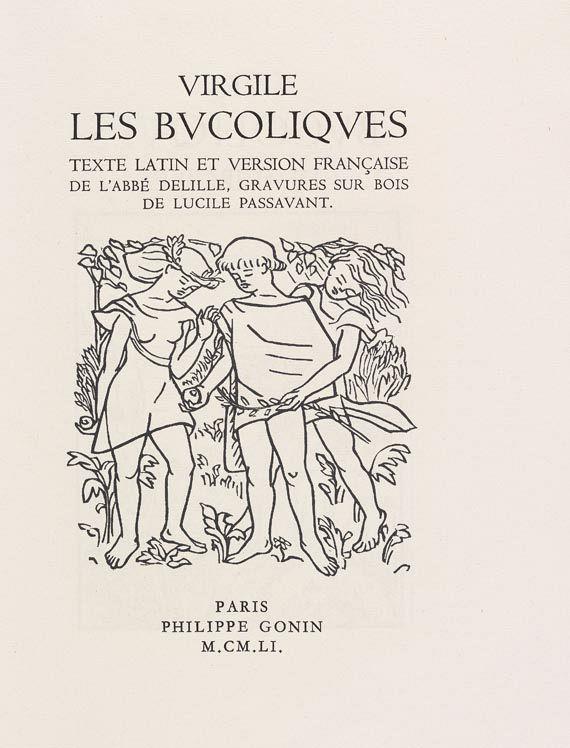 Lucile Passavant - Les Bucoliques. 1951