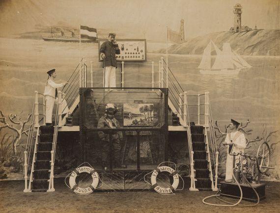 Friedrich Matthias Harmstorf - Blitz Mal Akt unter Wasser. Um 1914