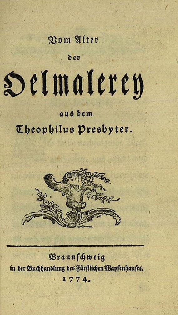 Gotthold Ephraim Lessing - Oelmalerey 1774