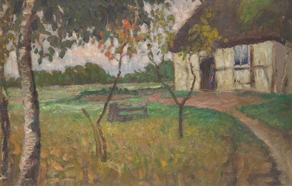 Fritz Overbeck - Landschaft mit Bauernkate