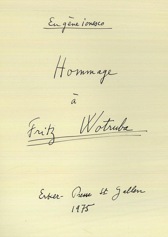 Fritz Wotruba - Ionesco, E., Hommage à Fritz Wotruba, 1975