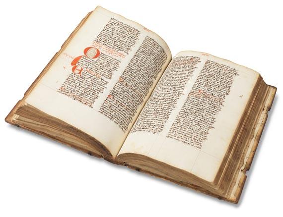 Manuskripte - Opus imperfectum in Matthaeum. Lat. Handschrift auf Papier. Um 1470. -