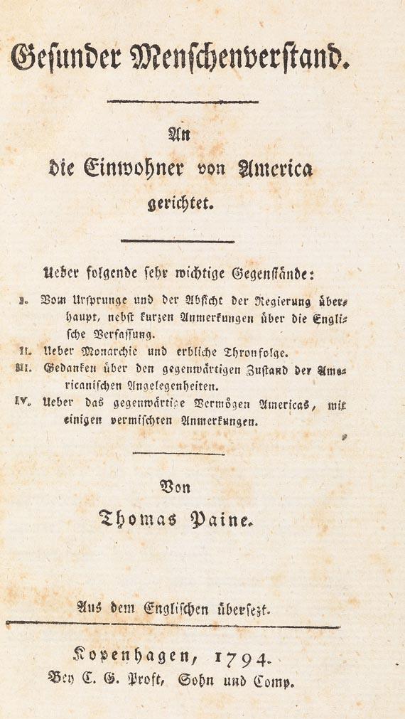 Thomas Paine - Gesunder Menschenverstand, 1794