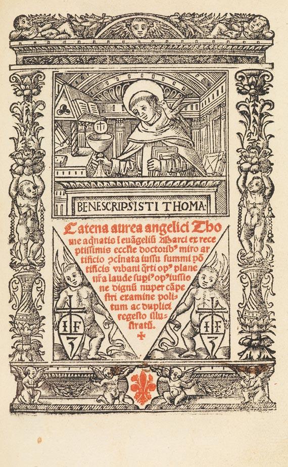 Thomas von Aquin - Catena aurea. Lyon 1520.
