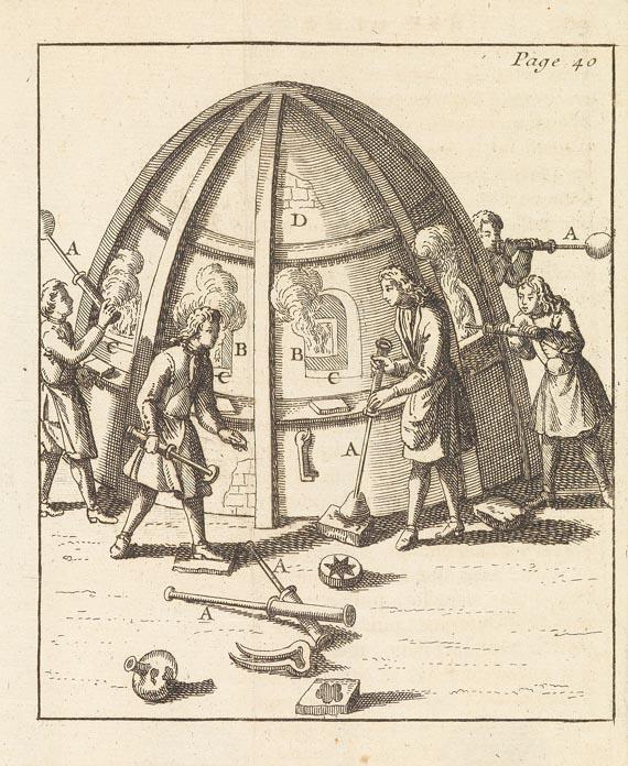 Jean Haudiquer de Blancourt - L'art de la verrerie, 2 Bde., 1718 (Nr. 28)