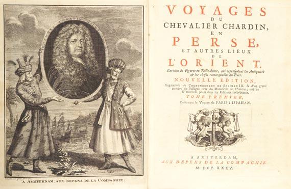Jean-Baptiste Simeon Chardin - Voyages, 2 Bde. (Nr. 56), 1735