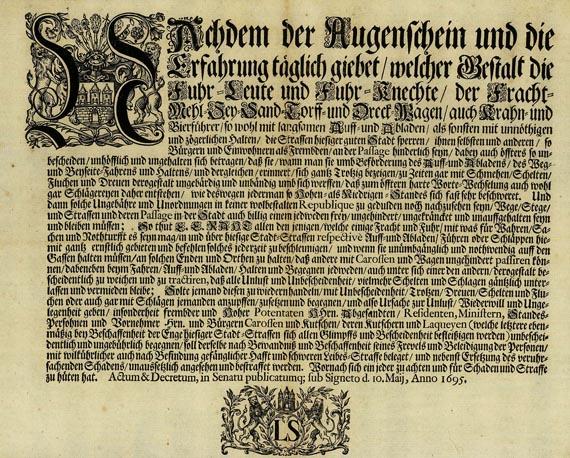 Deutschland - 3 Hefte und 4 Bll. Verordnungen. 1695-1838.