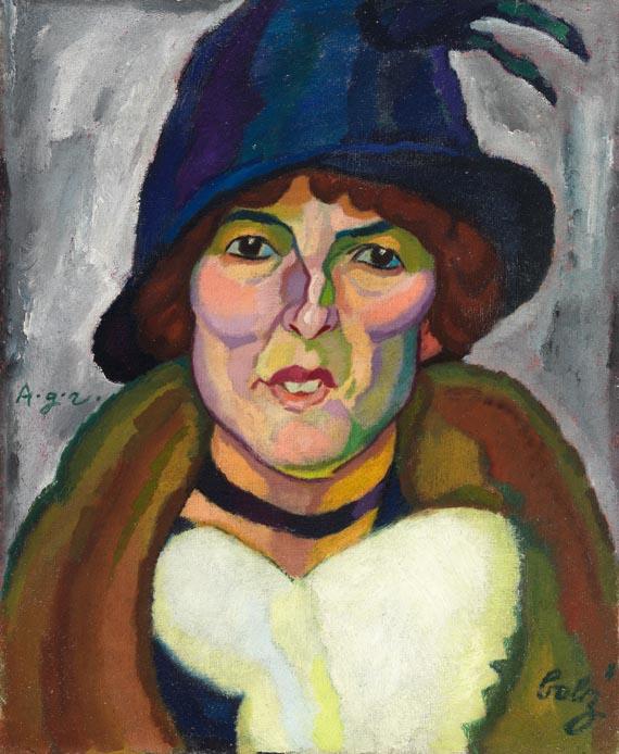 Hanns Bolz - Frau mit Hut