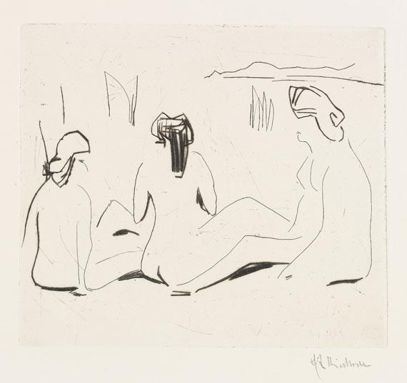 Mappenwerk / Portfolio - Fünfte Jahresmappe der Künstlergruppe Brücke (Ernst Ludwig Kirchner) -