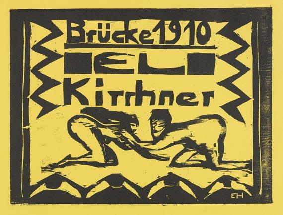 Mappenwerk / Portfolio - Fünfte Jahresmappe der Künstlergruppe Brücke (Ernst Ludwig Kirchner)