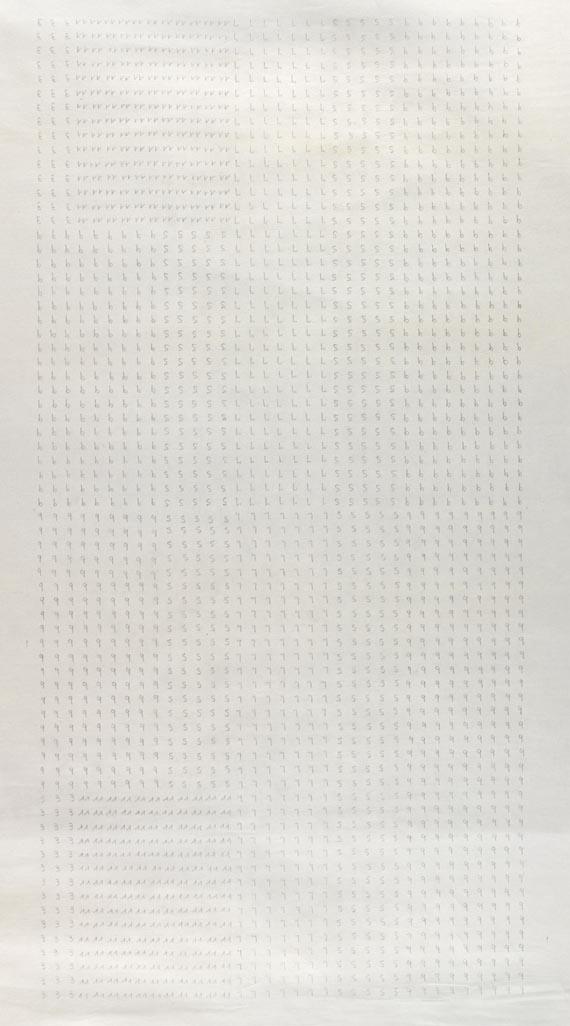 Hanne Darboven - Grosse Zeichnung (2-teilig)