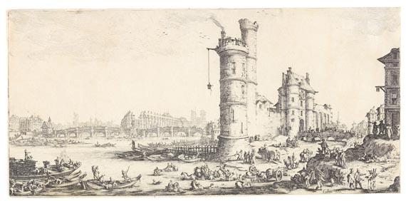 Jacques Callot - Blick auf den Pont Neuf