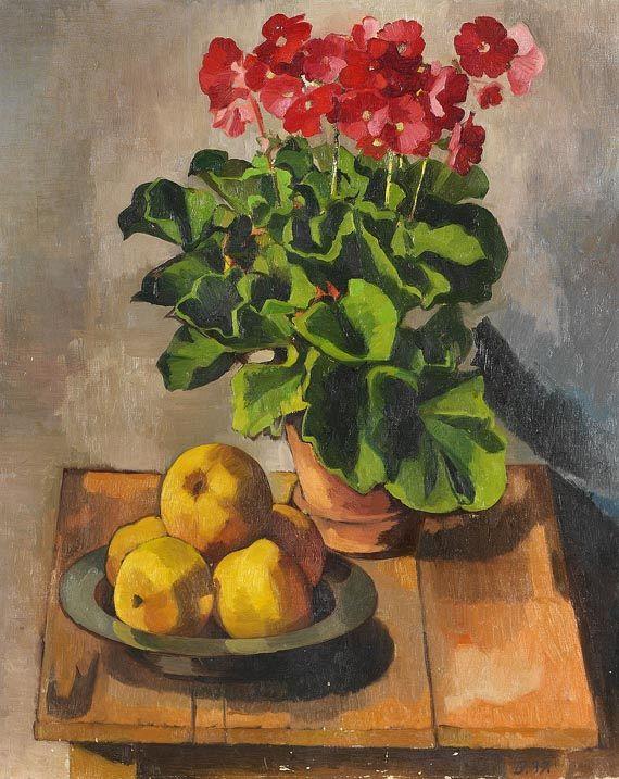 Georg Breitwieser - Stillleben mit Blumentopf