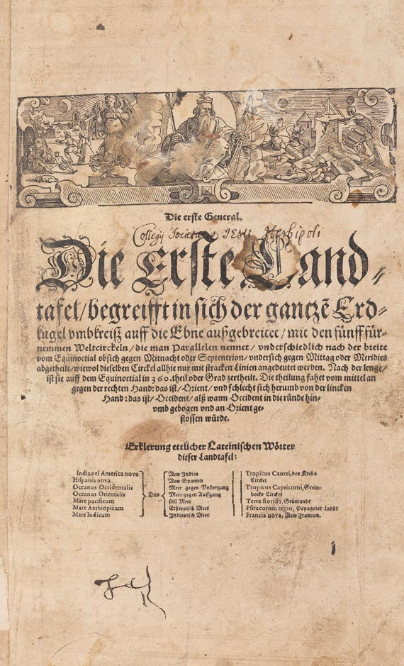 Sebastian Münster - Cosmographey. Basel 1598.