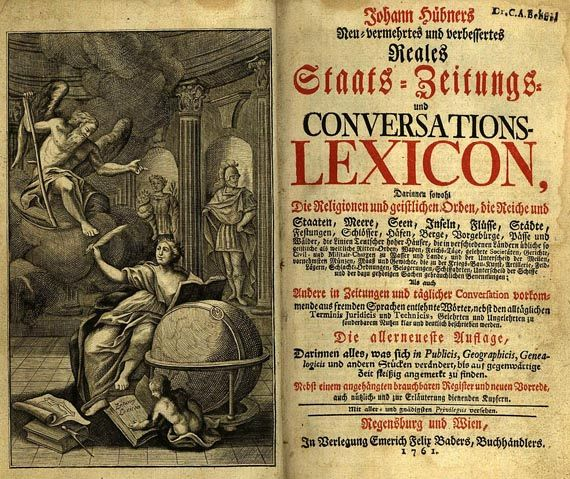 Johann Hübner - Conversations-Lexicon, 1761