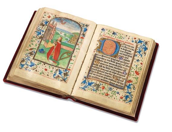 Manuskripte - Stundenbuch auf Pergament. Um 1500. - Weitere Abbildung
