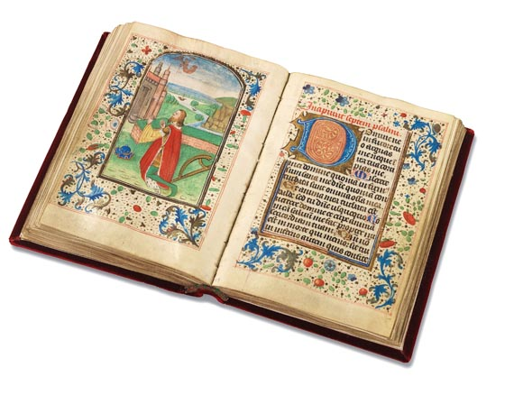 Manuskripte - Stundenbuch auf Pergament. Um 1500. -