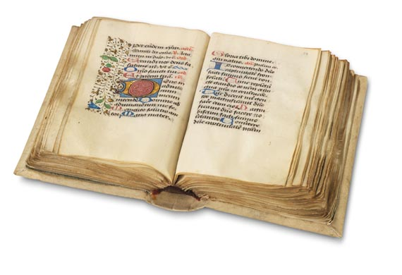 Manuskripte - Stundenbuch auf Pergament. Ende 15. Jh. -