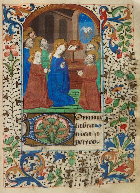 Manuskripte - Stundenbuch auf Pergament. Ende 15. Jh.