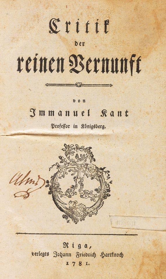 Immanuel Kant - Kritik der reinen Vernunft, 1781