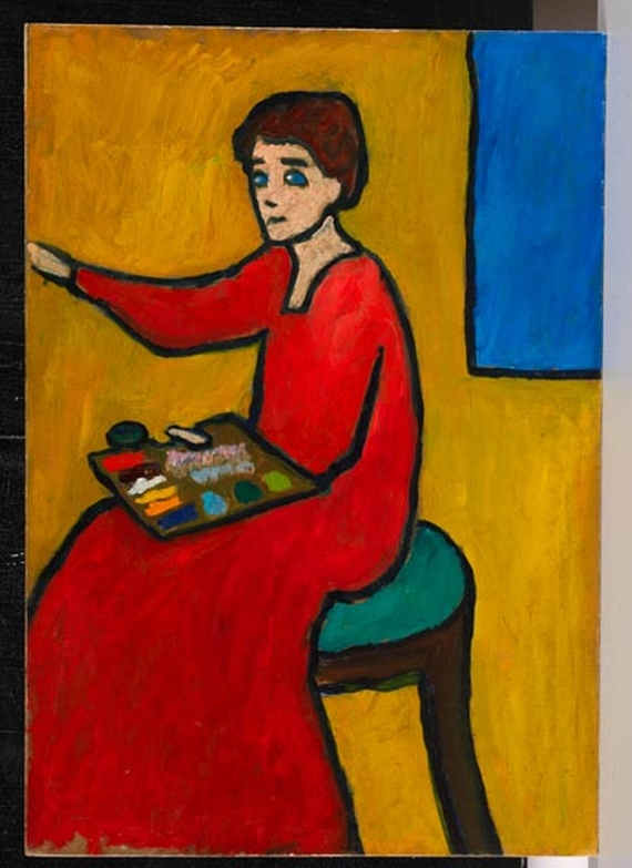 Gabriele Münter - Beim Malen (wohl Marianne von Werefkin) -