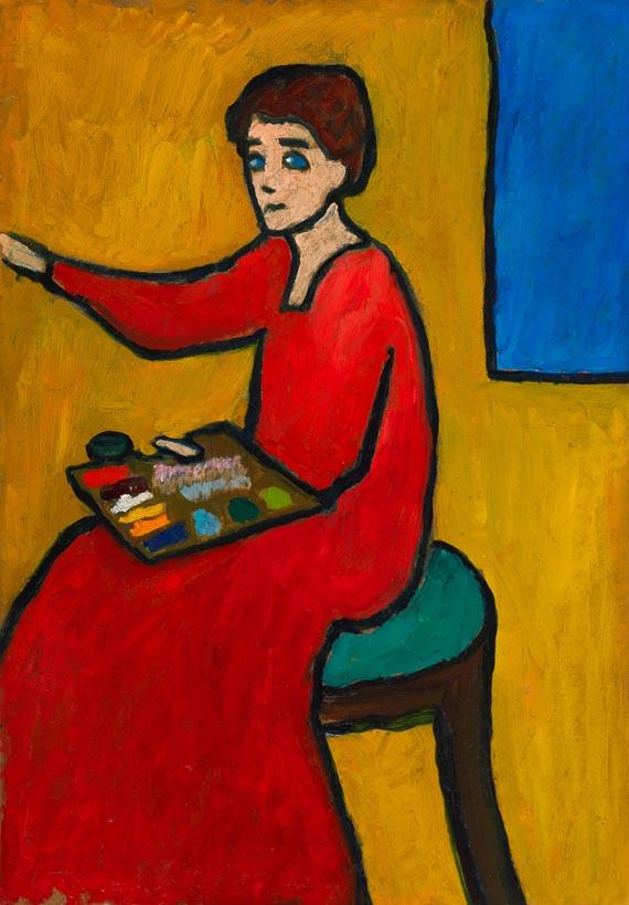 Gabriele Münter - Beim Malen (wohl Marianne von Werefkin)