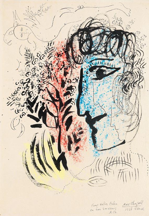 Marc Chagall - Kopf im Profil