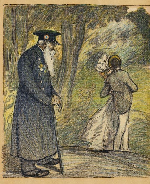 Théophile Alexandre Steinlen - L'Amour au Vert