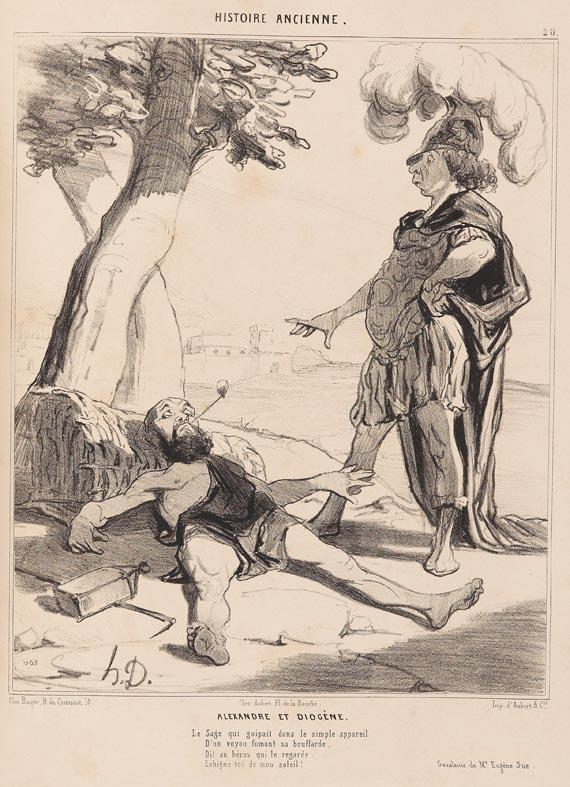 Honoré Daumier - Histoire ancienne, Paris 1841-43. - Weitere Abbildung