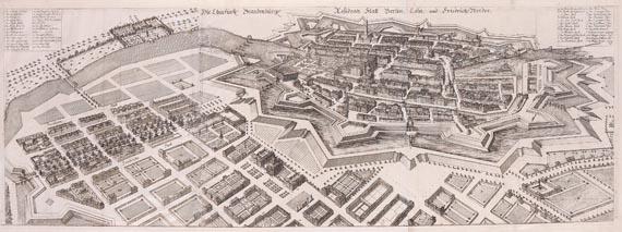 Berlin - Die churfürstl. Brandenburg. Residentz Statt Berlin, Cöln, und FriedrichsWerder.