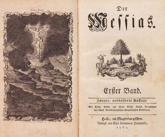 Friedrich Gottlieb Klopstock - Der Messias 2 Bde., 1760
