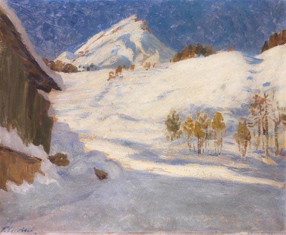 Fritz Overbeck - Winterlandschaft Davos