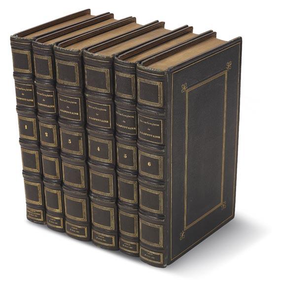 Jean de La Fontaine - Oeuvres complettes de J. La Fontaine. 6 Bde. (1814)