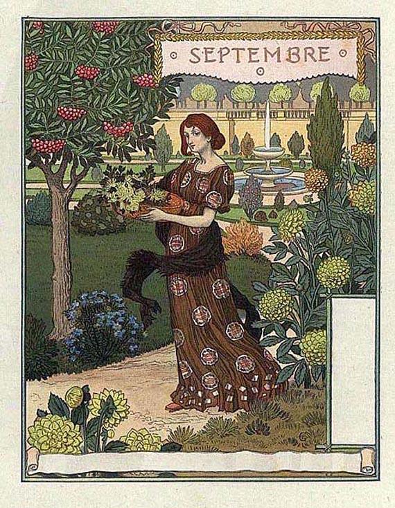 Eugène Samuel Grasset - Les mois. 1896