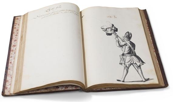 Manuskripte - Seebach, J. W. von, Beschreib und Handlung einer neu erfundenen Bombarde. 1746 -
