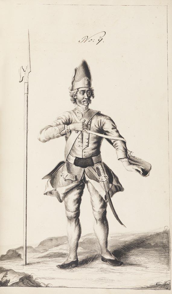 Manuskripte - Seebach, J. W. von, Beschreib und Handlung einer neu erfundenen Bombarde. 1746