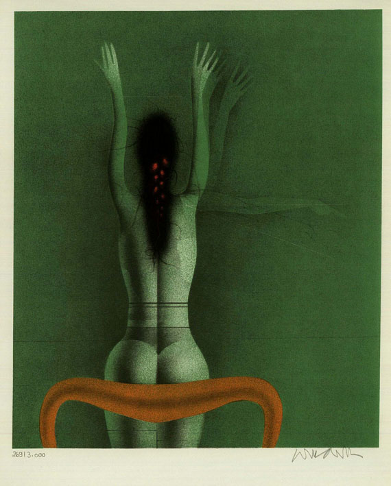 Paul Wunderlich - Les femmes. 1977
