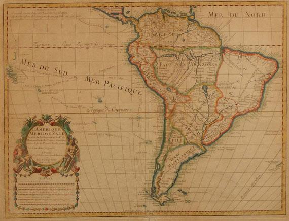 Amerika - De l'Isle, L'Amerique meridionale. Dabei: M. Seutter, America meridionalis (klein).