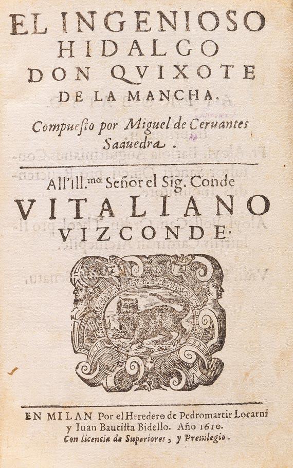 Miguel de Cervantes Saavedra - Don Quixote. 1610