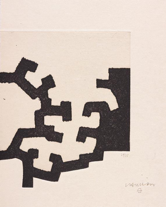 Eduardo Chillida - J.-M. Ullán: Adoración (1977). Vorzugsausgabe mit Suite. - Weitere Abbildung