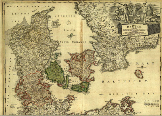 Dänemark - Homann, J. B., Regni Daniae ... nova tabula.
