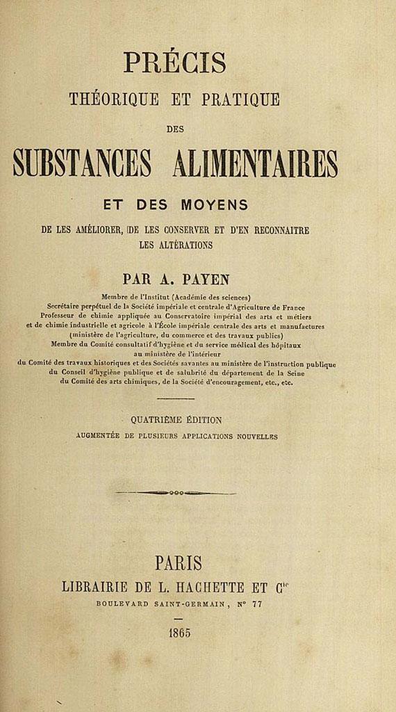 Anselme Payen - Substances alimentaires. 1865