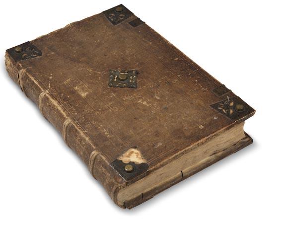 Hartmann Schedel - Weltchronik. 1493 (koloriert, dt. Ausgabe) - Einband