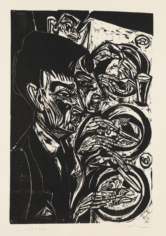 Ernst Ludwig Kirchner - Nervöse beim Diner