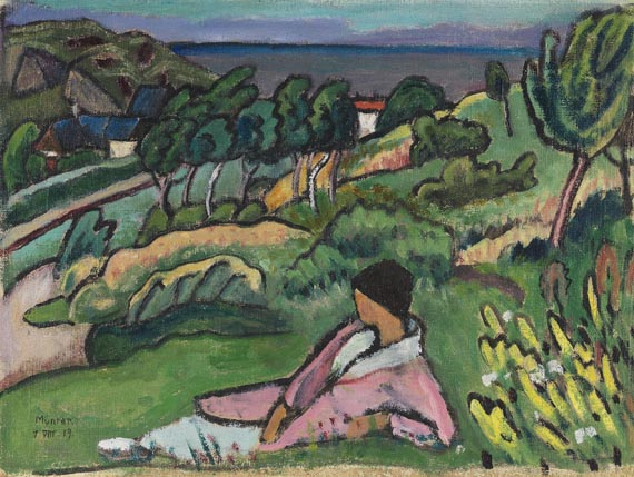 Gabriele Münter - Landschaft am Meer