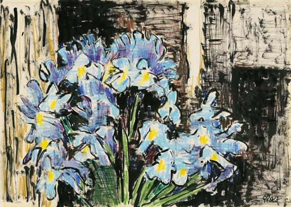Karl Schmidt-Rottluff - Hellblaue Iris