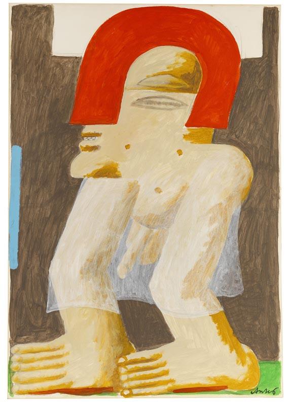 Horst Antes - Mann mit rotem Helm