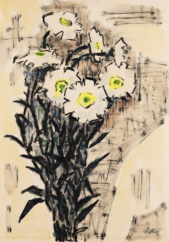 Karl Schmidt-Rottluff - Die weißen Blumen